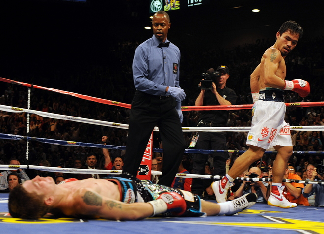 Manny Pacquiao turns Ricky Hatton into sleeping beauty