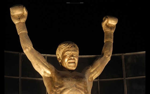 "News:  Manny ""Pacman"" Pacquiao statue at SM Mall of Asia"