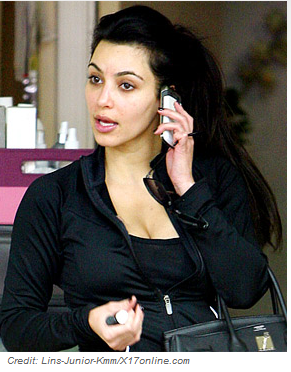 PIC: Kim Kardashian Steps Out Without Makeup